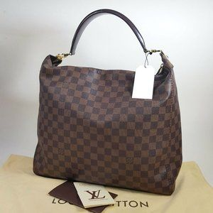 Auth Louis Vuitton Portobello Gm Hobo #7152L10B